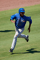 Toronto Blue Jays right fielder DJ Daniels (27) runs home during a Florida Instructional League game against the Philadelphia Phillies on September 24, 2018 at Spectrum Field in Clearwater, Florida.  (Mike Janes/Four Seam Images)