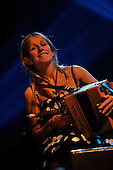 Ireland's folk star accordian player Sharron Shannon and her band on stage tonight (Sunday) at the Old Fruitmarket Glasgow as part of Celtic Connections 2011 - Picture by Donald MacLeod - 23.1.11 - 07702 319 738 : clanmacleod@btinternet.com : www.donald-macleod.com