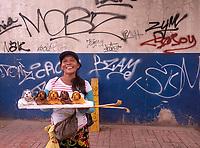 A Street vendor in Cebu City, Philippines