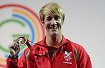 Wales Michaela Breeze celebrates winning Bronze<br /> <br /> Photographer Ian Cook/Sportingwales<br /> <br /> 20th Commonwealth Games - Weightlifting -  Day 3 - Saturday 26th July 2014 - Glasgow - UK