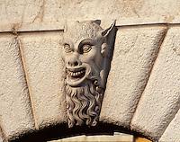 Italien, Lombardei, Detail an altem Tor in Brescia
