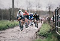 Loïc Vliegen (BEL/Wanty-Gobert) flyin' over the cobbles<br /> <br /> 51th Le Samyn 2019 <br /> Quaregnon to Dour (BEL): 200km<br /> <br /> ©kramon