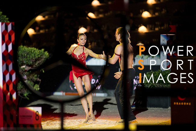 The House of Dancing Water by Franco Dragone Show during  the Longines Masters of Hong Kong on 21 February 2016 at the Asia World Expo in Hong Kong, China. Photo by Li Man Yuen / Power Sport Images