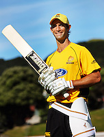 Grant Elliott. Buzz photo shoot at the Basin Reserve, Wellington. Monday, 7 December 2009. Photo: Dave Lintott / lintottphoto.co.nz