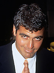 "George Clooney who plays Dr. Doug Ross of ""E.R"" pictured at the NBC announcement of their new fall line up in New York City on May 13, 1995."
