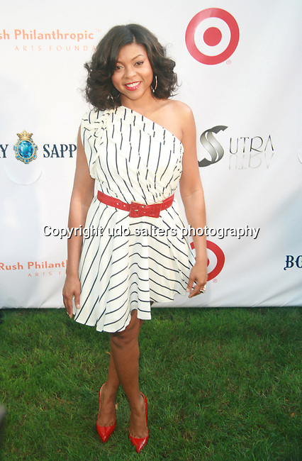 Actress Taraji P. Henson attends Russell Simmons' 12th Annual Art for Life East Hampton Benefit, NY  7/30/11
