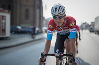 Luxemburg national champion Bob Jungels (LUX/Etixx-QuickStep) in action<br /> <br /> 12th Eneco Tour 2016 (UCI World Tour)<br /> stage 3: Blankenberge-Ardooie (182km)