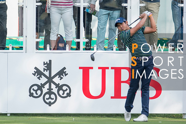 Pavit Tangkamolprasert of Thailand tees off the first hole during the 58th UBS Hong Kong Golf Open as part of the European Tour on 08 December 2016, at the Hong Kong Golf Club, Fanling, Hong Kong, China. Photo by Marcio Rodrigo Machado / Power Sport Images