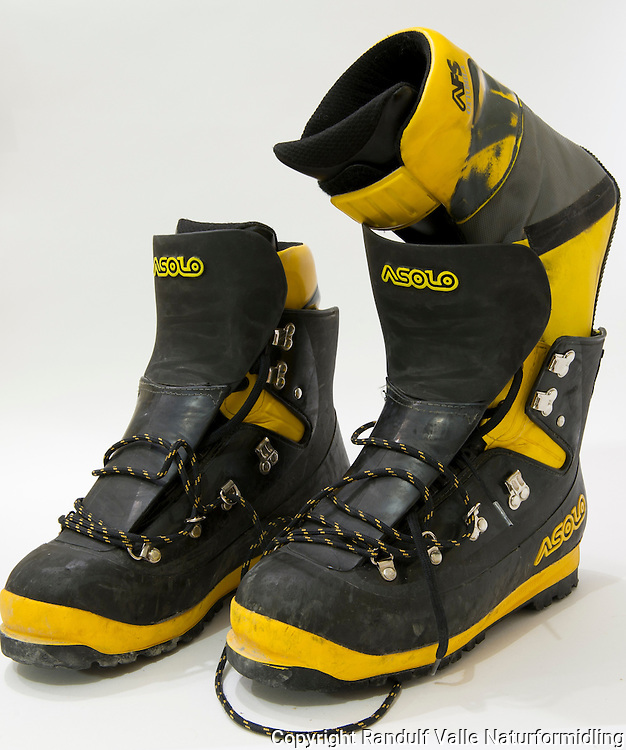 Plaststøvler for bre og fjell fra Asolo. ----- Asolo plastic boots.