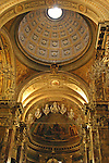 Church, interior; Trastevere; Rome; Italy; ceiling; religion