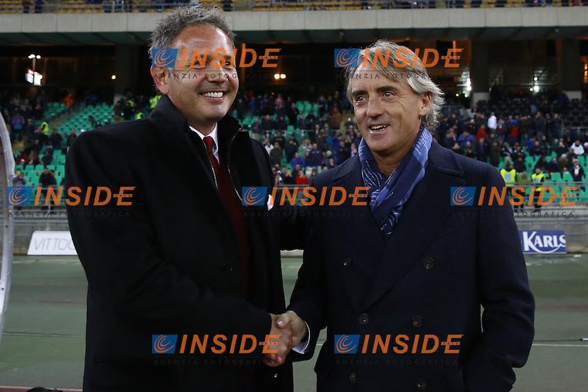 Sinisa Mihajlovic Milan, Roberto Mancini Inter,  <br /> Bari 24-11-2015 Stadio San Nicola <br /> Football Calcio Trofeo San Nicola 2015 Milan - Inter<br /> Foto Cesare Purini / Insidefoto