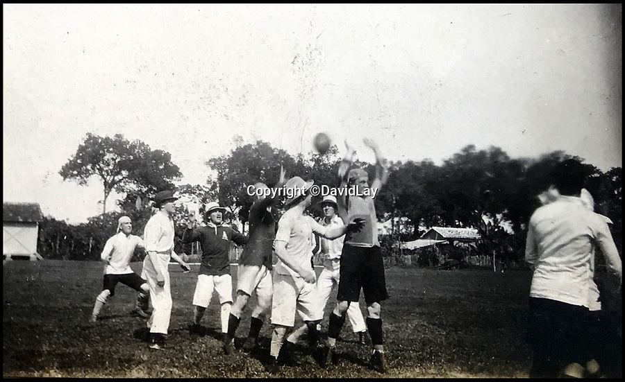 BNPS.co.uk(01202 558833)<br /> Pic: DavidLay/BNPS<br /> <br /> The British squad training in their hats - presumably to keep out of the midday sun.<br /> <br /> A rare photo album which documents the historic first British Lions' tour to Argentina in 1910 has been unearthed, and it shows rugby players were no strangers to a bit of mischief back then.<br /> <br /> The fascinating photos capture what went on both on and off the pitch as a squad of 16 English and three Scottish players embarked on a six match tour of the country culminating in a historic test match with Argentina.<br /> <br /> It was Argentina's first ever test match and the Lions emerged 28-3 winners in a game played at a polo ground in Buenos Aires.<br /> <br /> The photos capture the vibrant social side of the tour as the rugby players were not afraid to let their hair down.