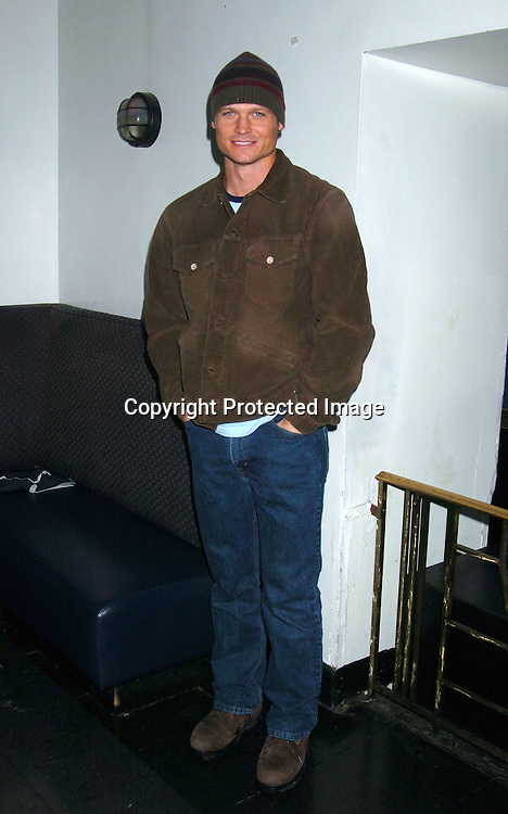 Bailey Chase ..at The As The World Turns Christmas Party on      December 5, 2003 at Club New York in New York City. Photo by Robin Platzer, Twin Images