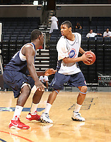 Michael Gbinije handles the ball during the 2009 NBPA Top 100 Basketball Camp held Friday June 17- 20, 2009 in Charlottesville, VA. Photo/ Andrew Shurtleff