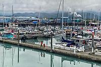 Seward sport fishing dock, Pacific Horticulture tour of Alaska