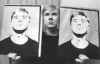 Andy Warhol with self portraits