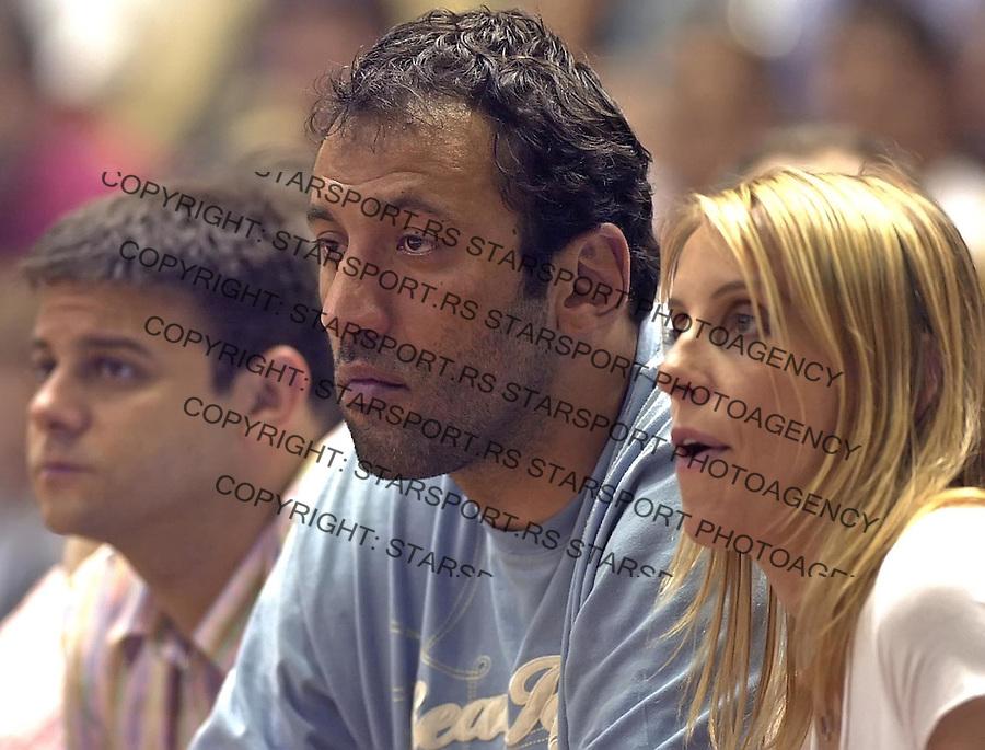 SPORT KOSARKA PARTIZAN HEMOFARM FINALE PLEJ OFA PLAY OFF Vlade Divac 19.6.2005. foto: Pedja Milosavljevic<br />