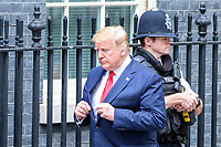 LONDON, ENGLAND - JUNE 04: US President Donald Trump at 10 Downing Street, during the second day of his State Visit on June 4, 2019 in London, England. <br /> CAP/CAM<br /> ©Andre Camara/Capital Pictures