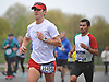 Oz Pearlman, left, runs north on Merrick Avenue in Westbury during the Long Island Marathon on Sunday, May 1, 2016.