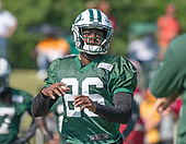 New York Jets defensive back Marcus Maye (26) participates in a drill during a joint training camp practice with the Washington Redskins at the Washington Redskins Bon Secours Training Facility in Richmond, Virginia on Tuesday, August 14, 2018.<br /> Credit: Ron Sachs / CNP<br /> (RESTRICTION: NO New York or New Jersey Newspapers or newspapers within a 75 mile radius of New York City)