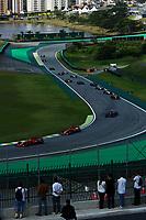 17th November 2019; Autodromo Jose Carlos Pace, Sao Paulo, Brazil; Formula One Brazil Grand Prix, Race Day; Sebastian Vettel (GER) and Charles Leclerc (MON) Scuderia Ferrari SF90 - Editorial Use