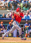 7 March 2013: Washington Nationals outfielder Corey Brown in action during a Spring Training game against the Houston Astros at Osceola County Stadium in Kissimmee, Florida. The Astros defeated the Nationals 4-2 in Grapefruit League play. Mandatory Credit: Ed Wolfstein Photo *** RAW (NEF) Image File Available ***