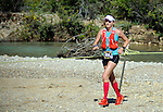 August 20, 2016 - Leadville, Colorado, U.S. -  Ultra distance runner, Clare Gallagher #326, negotiates a river crossing on her way to the women's championship during the Blueprint for Athletes Leadville Trail 100, Leadville, Colorado.  Considered one of the most challenging endurance races in the world, ultra distance runners will navigate high altitude trails, challenging river crossings, and a variety of changing weather with an elevation gain of more than 18,000 feet ranging from 9200 feet near Twin Lakes to 12,600 feet atop the high point of Hope Pass.