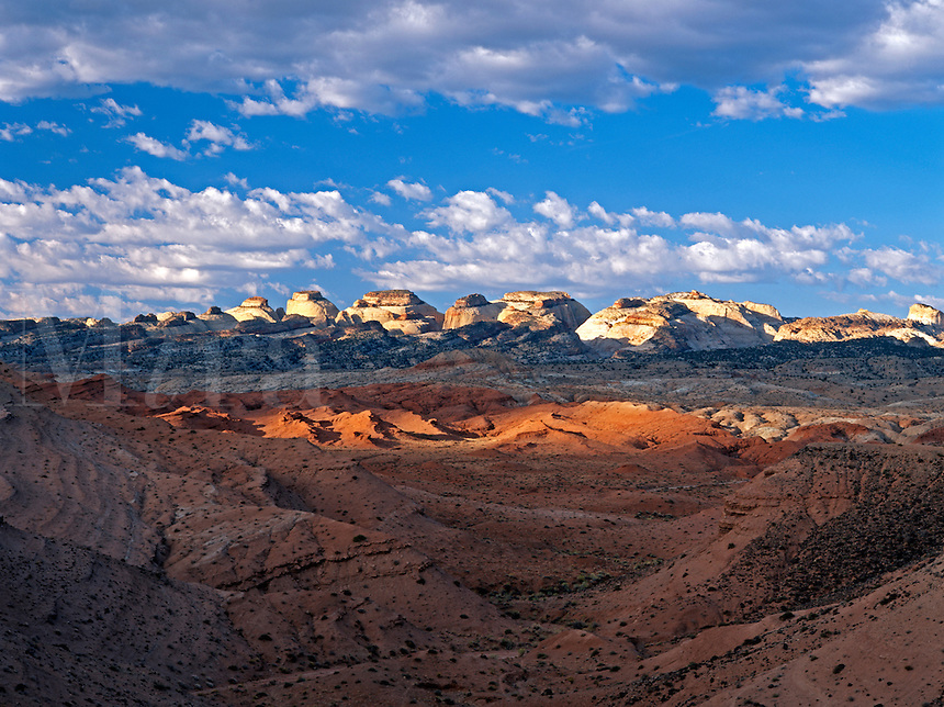 Splashes of sunlight illuminate the colorful desert of southern Utah<br />