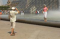 Tourists at the Louvre Paris