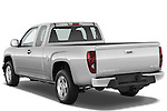 Rear three quarter view of a 2009 GMC Canyon SLE Extended Cab