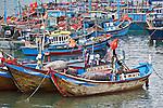 Fischerhafen von Cau Da nahe Nha Trang, Vietnam