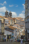 Brazil, Bahia, Salvador: Pelourinho, the beautifully restored historic center of Salvador de Bahia. --- Info: The district Pelourinho was built by the Portuguese in the 18th and 19th century as a residential and administrative center. Neglected for a greater part of the 20th century, Pelourinho received in 1985 the status as a UNESCO World Heritage Site. Restored it is today the crown jewel of Salvador. --- No signed releases available.