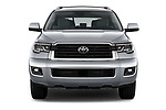 Car photography straight front view of a 2018 Toyota Sequoia SR5 Auto 5 Door SUV