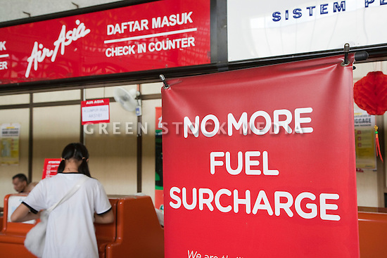 AirAsia announces dropping fuel surcharges to its passengers on January 29, 2009. Surcharges were introduced in the airline industry due to the rising oil prices and fuel costs. Malaysia