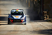 6th October 2017, Costa Daurada, Salou, Spain; FIA World Rally Championship, RallyRACC Catalunya, Spanish Rally; Andreas Mikkelsen and his co-driver Anders Jaeger of Norway compete in their Hyundai Motorsport I20 Coupe WRC during the Terra Alta Stage