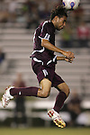 05 October 2007: Boston College's Karl Reddick. Boston College defeated Duke University at Koskinen Stadium in Durham, North Carolina in an NCAA Men's soccer game.