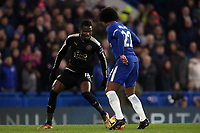 Daniel Amartey of Leicester city and Willian of Chelsea during Chelsea vs Leicester City, Premier League Football at Stamford Bridge on 13th January 2018
