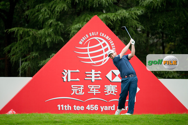 Branden Grace (RSA) on the 11th during round 1 of the WGC-HSBC Champions, Sheshan International GC, Shanghai, China PR.  27/10/2016<br /> Picture: Golffile | Fran Caffrey<br /> <br /> <br /> All photo usage must carry mandatory copyright credit (&copy; Golffile | Fran Caffrey)