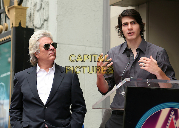 JON PETERS & BRANDON ROUTH.Producer Jon Peters Honored with a Star on the Hollywood Walk of Fame in front of Grauman's Chinese Theatre, Hollywood, California, USA,.1 May 2007..half length sunglasses john .CAP/ADM/BP.©Byron Purvis/AdMedia/Capital Pictures.