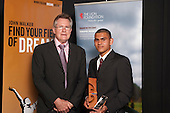 Junior Sportsman winner Mohammed Ali with Sir John Walker.Counties Manukau Sport  Sporting Excellence Awards held at TelstraClear Pacific Events Centre, Manukau City, on December 10th, 2009.