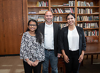 From left, Sherin Aboobucker '19, Ben Rhodes and Noa Richard '19.<br /> Occidental College hosts the second speaker of the Obama Scholars Program Speaker Series, Ben Rhodes, former deputy national security advisor to President Barack Obama '83 on April 18, 2019.<br /> Ben Rhodes served as deputy national security advisor to President Barack Obama for eight years, overseeing the administration's national security communications, public diplomacy, global engagement programming and speechwriting. Prior to joining the Obama administration, Rhodes served as a senior speechwriter and foreign policy advisor to the Obama campaign. Before joining then–Senator Obama's campaign, he worked for former Rep. Lee Hamilton from 2002 to 2007. He was the co-author, with Thomas Kean and Lee Hamilton, of Without Precedent: The Inside Story of the 9/11 Commission. A native New Yorker, Rhodes has a BA from Rice University and an MFA from New York University.<br /> (Photo by Marc Campos, Occidental College Photographer)