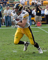 September 20, 2008: Iowa wide receiver Andy Brodell. The Pitt Panthers defeated the Iowa Hawkeyes 21-20 on September 20, 2008 at Heinz Field, Pittsburgh, Pennsylvania.