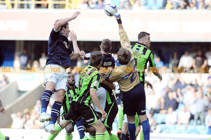 Tomasz Kuszczak of Brighton makes another vital save for his team - Millwall vs Brighton & Hove Albion - NPower Championship Football at the New Den, London - 22/09/12 - MANDATORY CREDIT: Anne-Marie Sanderson/TGSPHOTO - Self billing applies where appropriate - 0845 094 6026 - contact@tgsphoto.co.uk - NO UNPAID USE.