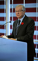 Nov 9, 2012 - Laval, Quebec, CANADA -  Gilles Vaillancourt resign as Mayor of Laval,more than 2 weeks after police raided his house, his condo and seized over 100 000 dollars in cash hidden in banks safety boxes.
