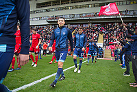 Luke O'Nien of Wycombe Wanderers ahead of the Sky Bet League 2 match between Leyton Orient and Wycombe Wanderers at the Matchroom Stadium, London, England on 1 April 2017. Photo by Andy Rowland.