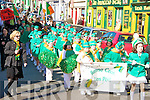 Banna Cheoil Liospo?il members taking part in the St Patricks Day parade in Dingle