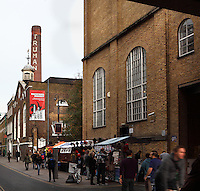 Old Truman Brewery (former Black Eagle Brewery), 18th century, Brick Lane, Spitalfields area, London, UK. Picture by Manuel Cohen