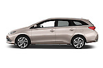Car Driver side profile view of a 2015 Toyota Auris Touring Sports Dynamic 5 Door Wagon Side View