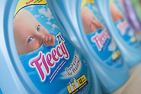 Bottles of Fleecy concentrated fabric softener are seen in a Metro grocery store in Quebec city March 4, 2009.