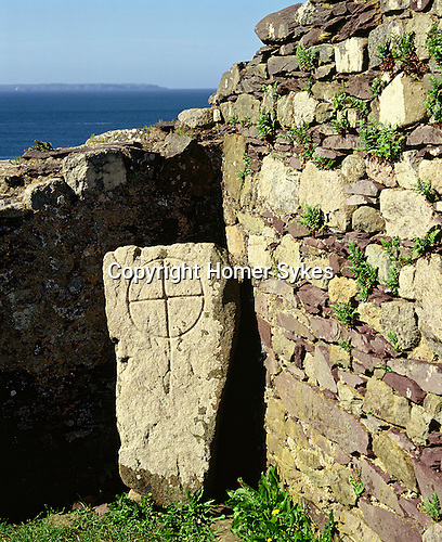 St  Saint Nons Chapel, St Davids Head Pembrokshire Wales. Uk. Celtic Britain published by Orion